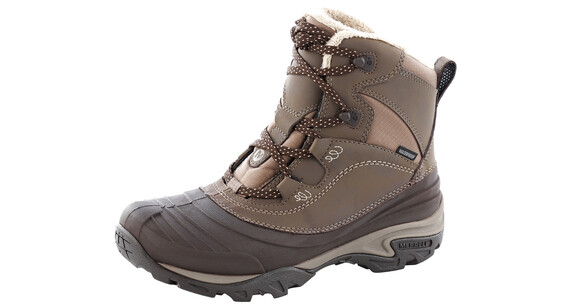 Merrell Snowbound Mid Waterproof Shoes Women dark earth